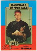 Original Autograph PSA/DNA of Bob Lemon on a Baseball Immortals Card