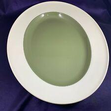 """Wedgwood MOSS GREEN Oval Serving Platter 15 1/2"""""""