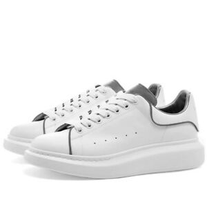 Alexander McQueen SNEAKERS IN White AND Silver