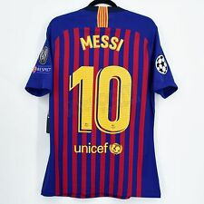 2018-19 Barcelona Player Issue Home Shirt #10 MESSI Champions League XL Jersey
