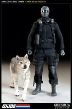 SIDESHOW Snake Eyes With Timber Exclusive Commando GI Joe Ninja 1/6 Scale New