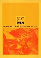 catalogo RIO 1984 Automobili d'epoca per amatori 1/43           IT      aa