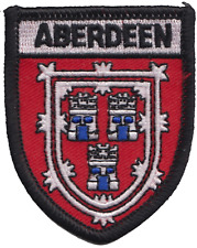 Aberdeen City Scotland Flag Embroidered Patch