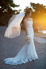 Handmade Regular Size Sleeveless Wedding Dresses