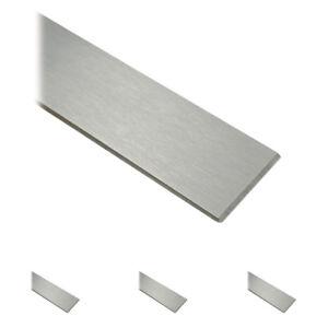 Korn 240 FRACHTFREI L/änge 100 mm Abmessungen 60 x 5 mm Edelstahl Flachstahl V2A Oberfl/äche geschliffen