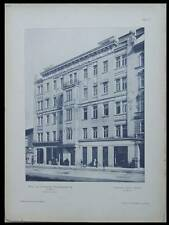 IMMEUBLE A VIENNE - 1902 - PLANCHE ARCHITECTURE - DEHM, FRANZ OLBRICHT