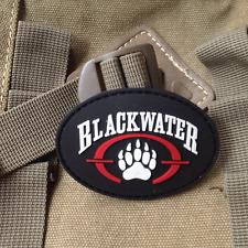 U.S.A BlackWater USA SWAT ARMY PATCH PVC HOOK PATCH MORALE BADGE