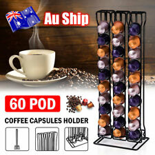 60 Coffee Pod for Nespresso Capsule Holder Dispenser Storage Tower Stand Rack AU