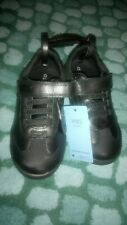 New M And S Boys School shoes leather breathable Black Size 8
