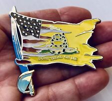 New listing Don't Tread On Me American Flag Usa Sword Navy Cpo Mess Challenge Coin No Nypd !
