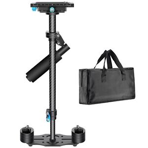 Neewer 24/60cm Black Carbon Fiber Handheld Stabilizer with Quick Release Plate