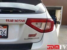08-14 WRX STi Hatchback Tail Light PRECUT CUTOUT REDOUT TINT Overlays Vinyl Film