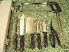 10pc BUTCHER'S KNIFE SET with MEAT SAW and CASE Cleaver boning Shear Butcher New