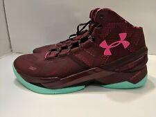 c4d5cdafa6d Under Armour Curry 2 BHM Mens Sz 9.5 1259007-602 Maroon Basketball Shoes