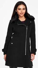 WALLIS LONG ZIPPED NAVY LADIES COAT SIZES 8,10,12,14,16 NEW WITHOUT TAGS