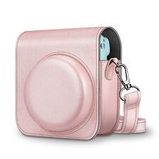For Fujifilm Instax Mini 11 Instant Camera Case Cover Adjustable Strap Rose Gold