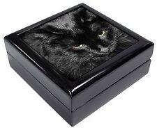 Gorgeous Black Cat Keepsake/Jewellery Box Christmas Gift, AC-300JB