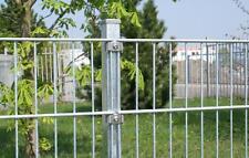 Gitterzaun 15 m 1,43m Stahlmattenzaun Doppelstab Zaun Metallgartenzaun Zierzaun