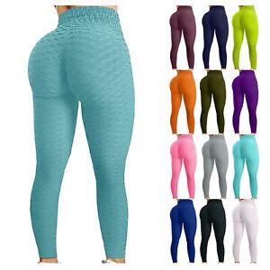 Women's Bubble Hip Lifting Exercise Fitness Running High Waist Yoga Pants