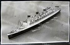 1938 Liner RMS Queen Mary from a HMS Amphion floatplane - photo 16.5 by 10cm