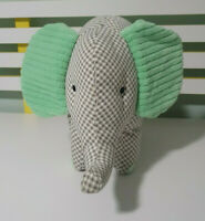 KMART GREEN FABRIC ELEPHANT PLUSH TOY! SOFT TOY ABOUT 26CM TALL KIDS TOY!