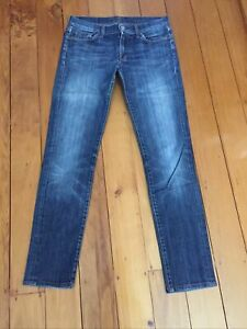 """7 For All Mankind """"Roxanne"""" Low Rise Straight jeans Size 28 -  Distressed"""