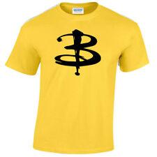 Buffy Camiseta Vampiro Inspirado Serie de Tv Cazadora Hombre Retro