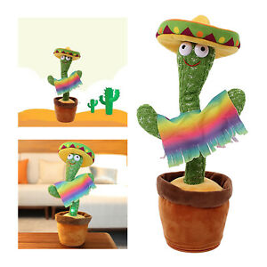 Plush Toy Electronic Dancing Toy with Music Singing Cactus Education Toy Fun Toy