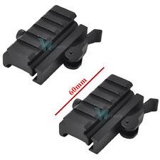 "2x Quick Release Detach 1/2"" Mini Riser 5-Slot QR Block Mount For Picatinny Rail"
