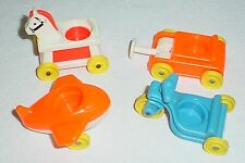 Vintage Fisher Price Little People Riding Toy Lot Orange Red Blue