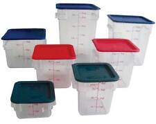 Thunder Group 18 Quart Square Clear Polycarbonate Food Storage Container