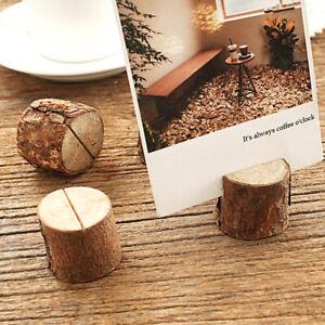 20 Holz Kartenhalter Platzkartenhalter Tischkartenhalter Fotohalter Memohalter