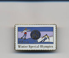 Vintage Winter Special Olympics USA 22 cent USPS Postage Stamp Lapel Pin