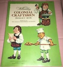 1973 Williamsburg Colonial Craftsmen Press-Out Book Paper Doll Style New Other