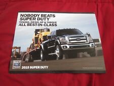 2015 FORD F-SERIES SUPERDUTY F250 F350 F450 F550 BEST IN CLASS PROMO SALES FLYER