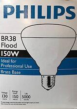 PHILIPS 150-Watt BR38 Long-Life 130-Volt Clear Reflector Flood Light 150BR38/5FL