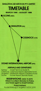 SINGLETON AIR SERVICES AUSTRALIA TIMETABLE