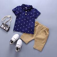 Toddler Kids Baby Boy Clothes Boys Outfits Sets Short T-Shirt + Pants Dot Tops