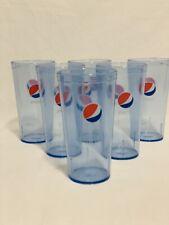 New (6) Pepsi Cola Restaurant Blue Plastic Tumblers Cups 24 oz Carlisle