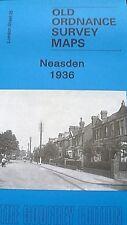 OLD Ordnance Survey  Map Neasden near Wembley London 1936 Sheet 25 Brand New