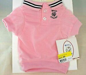 Max's Closet -  Light Pink Polo Shirt (Pet, Dog) Extra Small (XS)
