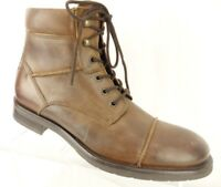 GBX Brown Leather Lace Up & Zip Up Ankle Dessert Boot Shoe Men's Size 8 Medium