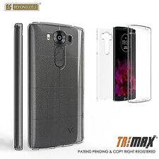 For LG V10 Transparent Slim Full Body 360 Wrap Protective Case TPU Cover