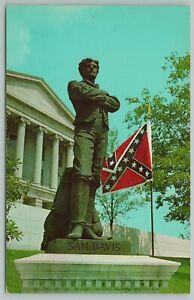 Murfreesboro Tennessee~Sam Davis Confederate Hero Monument~Vintage Postcard