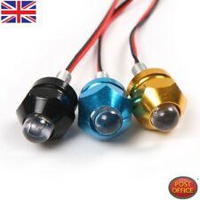 Black Mini Pair Motorcycle Flashing Strobe LED Light Emergency Indicator 12V