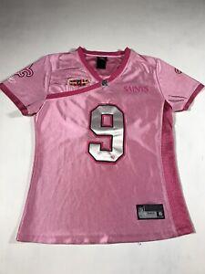 Drew Brees New Orleans Saints Super Bowl XLIV Pink Jersey Womens Small C295