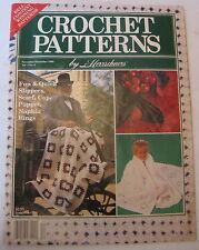 Vintage 1989 Crochet Patterns by Herrschners Bells Afghan Scarf Cap Puppet