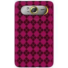 AMZER Luxe Argyle High Gloss TPU Soft Gel Skin Case Cover For HTC HD7 - Hot Pink