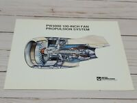 8x10 Print Pratt & Whitney Cutaway Engine PW4000 100-inch Fan Propulsion System