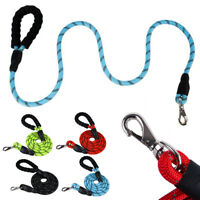 Multi-Color 5FT Strong Dog Leash Climbing Rope Reflective Thread Night Safe ZE